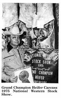 Grand Champion Heifer Carcass at the 1975 National Western Stock Show.